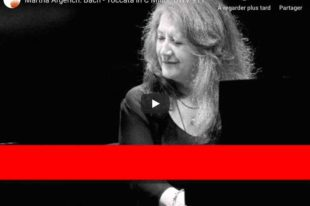 Bach - Toccata in C Minor BWV 911 - Argerich, Piano