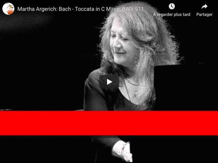 Bach - Toccata in C Minor BWV 911 - Martha Argerich, Piano