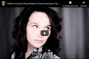 Brahms - Intermezzo Op. 117 No. 2 - Grimaud, Piano