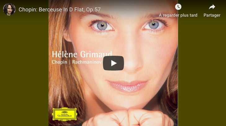 Chopin - Berceuse in D-Flat Major - Hélène Grimaud, Piano