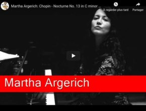 Chopin - Nocturne No 13 in C Minor - Martha Argerich, Piano