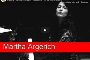 Chopin - Nocturne No 13 in C Minor - Argerich, Piano