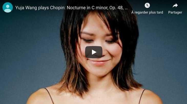 Chopin - Nocturne No 13 in C Minor - Yuja Wang, Piano