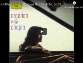 Chopin - Nocturne No 16 in E-Flat Major - Martha Argerich, Piano