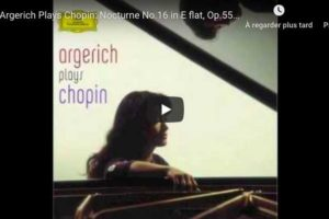 Chopin – Nocturne No. 16 – Argerich, Piano