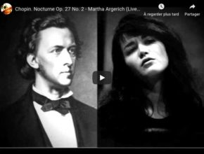 Chopin - Nocturne No 8 in D-Flat Major - Martha Argerich, Piano