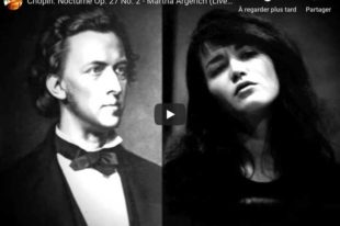 Chopin - Nocturne No 8 in D-Flat Major - Argerich, Piano