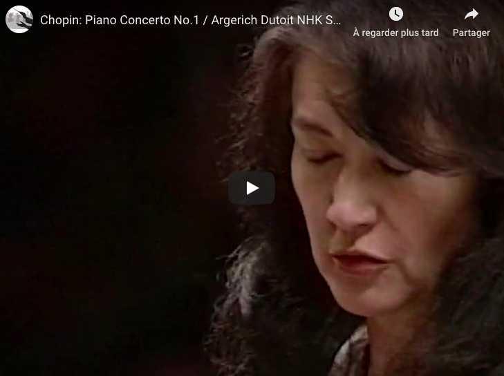 Chopin - Piano Concerto No 1 - Martha Argerich, Piano
