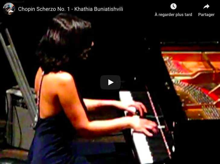 Chopin - Scherzo No 1 in B Minor - Khatia Buniatishvili, Piano