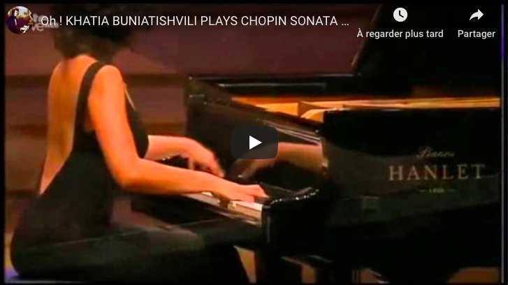 Chopin - Sonata No 2 in B-Flat Minor - Khatia Buniatishvili, Piano