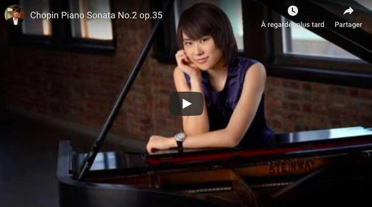 Chopin - Sonata No 2 in B-Flat Minor - Yuja Wang, Piano