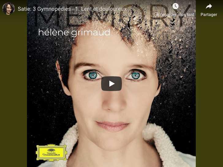 Satie - Gymnopédie No 1 - Hélène Grimaud, Piano