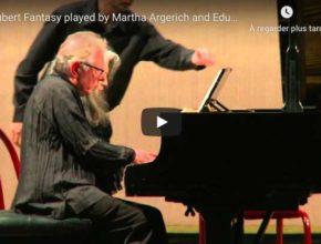 Schubert - Fantasia in F Minor - Martha Argerich & Eduardo Delgado, Piano
