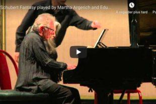 Schubert - Fantasia - Argerich & Delgado, Piano
