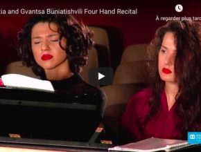 Schubert - Fantasia in F Minor - Khatia and Gvantsa Buniatishvili, Piano