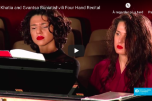 Schubert – Fantasia in F Minor – Khatia and Gvantsa Buniatishvili, Piano
