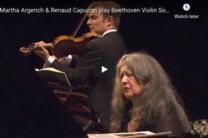 Beethoven – Violin Sonata No. 8 – Capuçon; Argerich