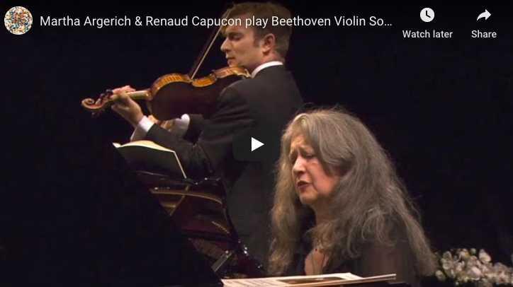 Renaud Capuçon and Martha Argerich play Beethoven's Violin and Piano Sonata No. 8 in G Major, Op. 30 No. 3