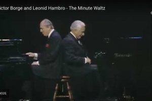 Chopin – Waltz No. 6 (Minute Waltz) – Borge & Hambro, Piano