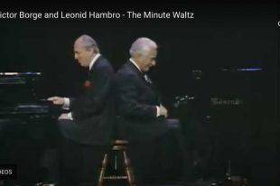 Chopin - Waltz No. 6 (Minute Waltz) - Borge & Hambro, Piano