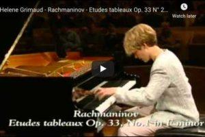 Rachmaninoff – Etudes-Tableaux Op 33 No 1,2 – Grimaud, Piano