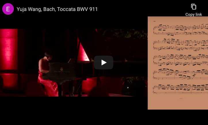 Bach - Toccata in C Minor BWV 911 - Yuja Wang, Piano