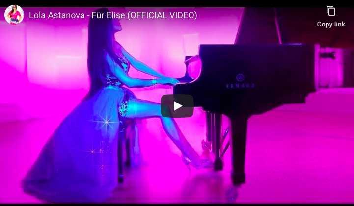 Ludwig van Beethoven - For Elise in A Minor - Lola Astanova, Piano