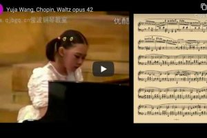 Chopin – Waltz No. 5 for Piano – Yuja Wang