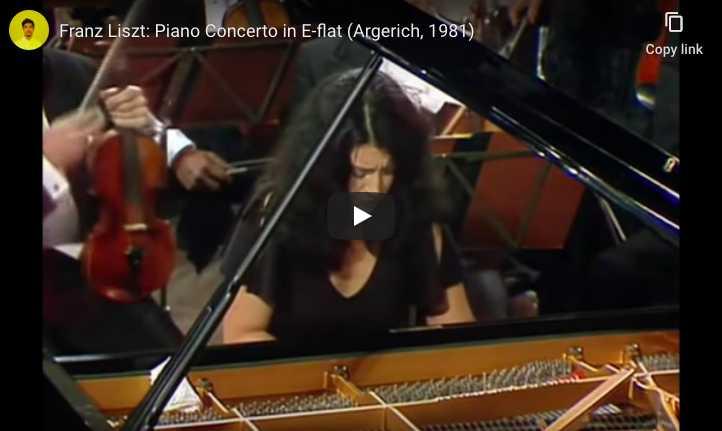 Franz Liszt - Piano Concero No. 1 in E-Flat Major - Martha Argerich