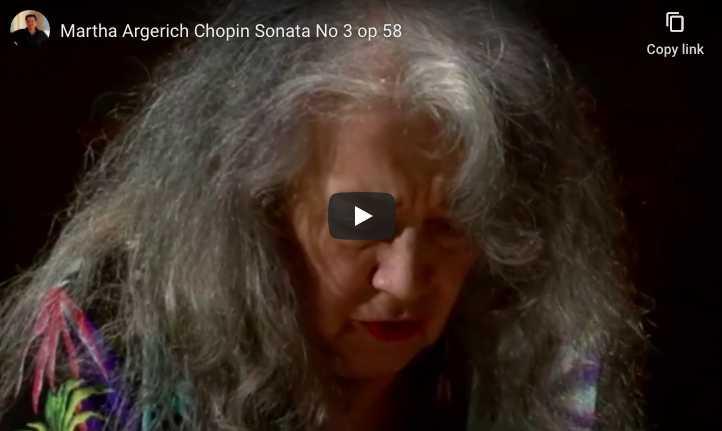 Chopin - Piano Sonata No. 3 in B Minor - Martha Argerich