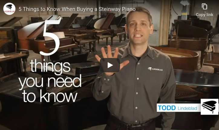 5 things you want to know when buying a used or restored Steinway & Sons piano.