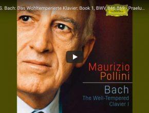 Bach - Prelude No 1 in C Major BWV 846 - Maurizio Pollini, Piano