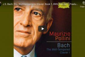 Bach – Prelude No. 1, Book I – Pollini, Piano