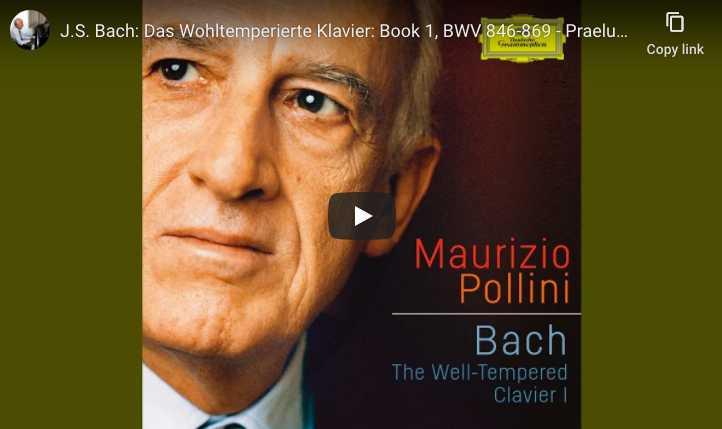 Bach - Prelude No. 1 in C Major BWV 846 - Maurizio Pollini, Piano