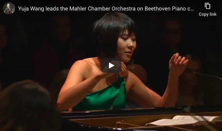 Yuja Wang performs Beethoven's Piano Concerto No. 1 (3rd movement)