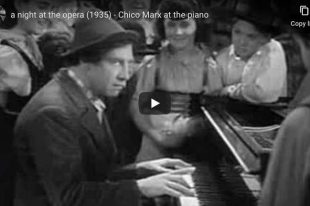 Marx Brothers - Chico Piano Scene - A Night at the Opera