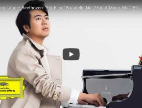 The pianist Lang Lang plays Beethoven's famous For Elise (Für Elise) composition