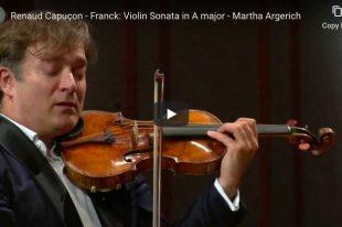 Franck - Violin Sonata - Renaud Capuçon, Martha Argerich