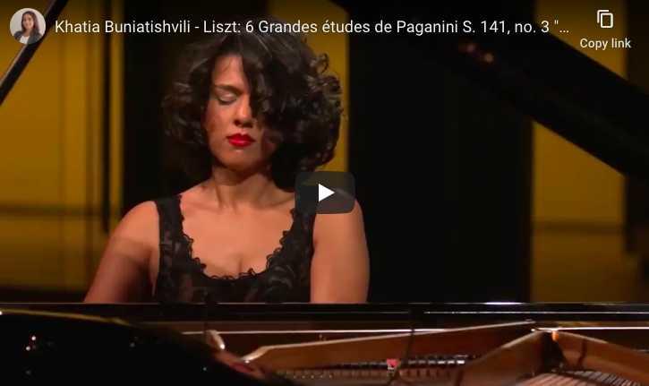 Liszt - La Campanella, Etude de Paganini No. 3 in G-Sharp Minor - Khatia Buniatishvili, Piano