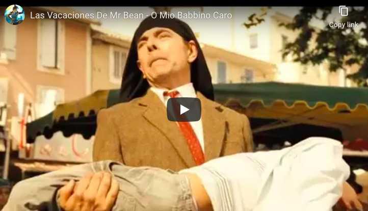 """Rowan Atkinson is singing Puccini's famous aria """"O Mio Babbino Caro"""""""