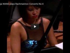 Yuja Wang performs Rachmaninoff's Piano Concerto No. 4 in G Minor