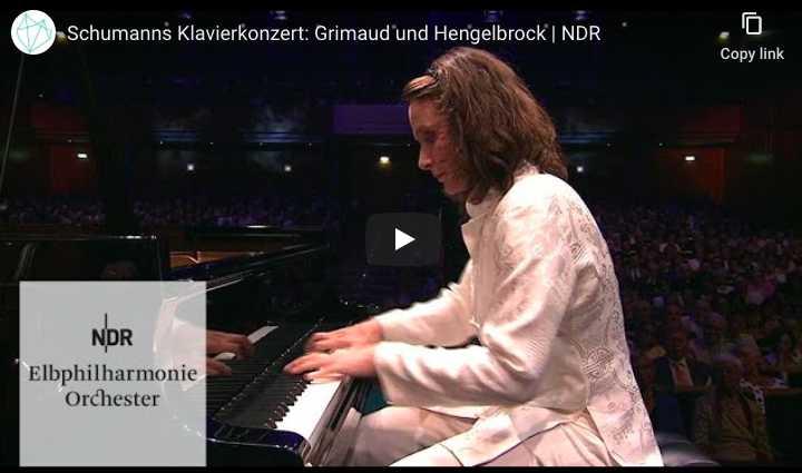 Hélène Grimaud performs Schumann's piano concerto in A minor.