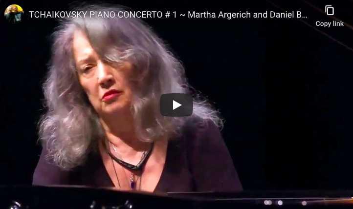 Tchaikovsky - Piano Concerto No. 1 in B-Flat Minor - Martha Argerich