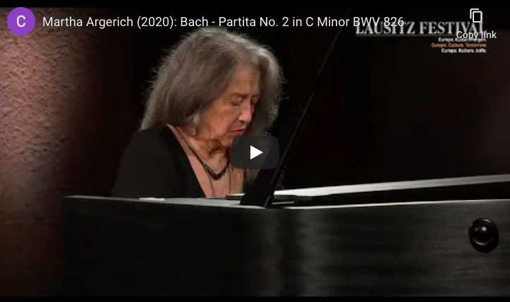 Bach - Partita No 2 in C Minor - Martha Argerich, Piano