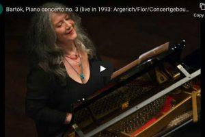 Bartok – Piano Concerto No. 3 – Martha Argerich