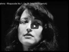 Martha Argerich plays Brahms' rhapsody No. 1