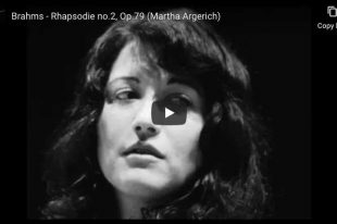 Brahms - Rhapsody No. 2 - Martha Argerich, Piano