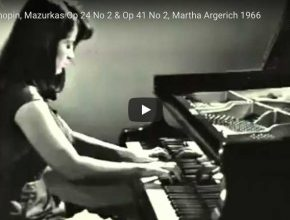 Chopin - Mazurka in C major Op. 24 No. 2 - Argerich, Piano