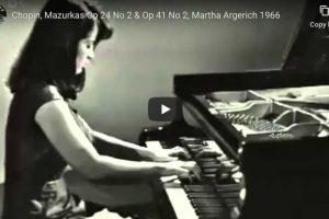 Chopin – Mazurka Op. 24 No. 2 – Argerich, Piano