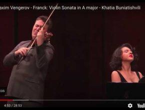Maxim Vengerov and Khatia Buniatishvili perform César Franck's Sonata for violin and piano in A Major.